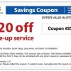Sears Car Tune Up Store Coupon