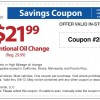 Sears Oil Change Coupon