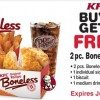 KFC Boneless Chicken Coupon 2013