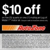 Auto Zone Oil Discount Coupon