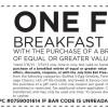 Bob Evans Free Breakfast Coupon