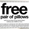 Free pillows with purchase at Ashley home store