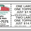 Papa Johns pizza discount coupon