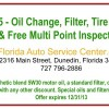 Florida Auto Service Center Oil Change Discount