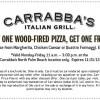 Carrabbas Italian Grill Coupon BOGO