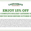 Carrabba's Italian Grill 15 Percent off Catering Coupon