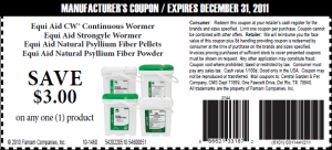 Printable Coupon for $3 OFF Equi Aid Products