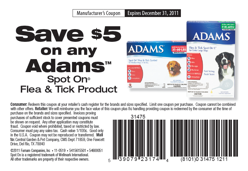 Dec 03,  · For Adams we currently have 5 coupons and 0 deals. Our users can save with our coupons on average about $ Todays best offer is 20% Off. If you can't find a coupon or a deal for you product then sign up for alerts and you will get updates on every new coupon added for Adams.