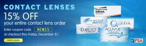15% OFF Contact Lenses! Only at Walgreens!