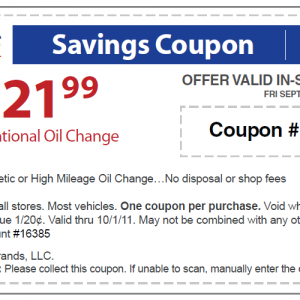 Sears coupon oil change october 2018