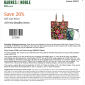 Save 20% OFF all Vera Bradley at Barnes and Noble Printable Coupon and Online Code