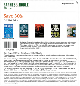 Barnes and Noble Coupon for 30% OFF Select Books!