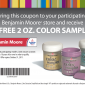 Free 2 OZ Color Sample at Benjamin Moore Printable Coupon
