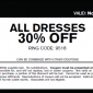 Express Printable Coupon 30% OFF All Dresses