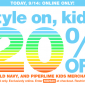20% OFF Online Coupon Code at GAP and Old Navy Kids Today Only!