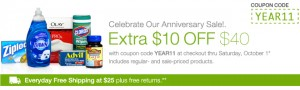 Walgreens $10 OFF $40 Coupon Includes Sale Products!