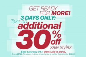 Gap Online Printable Coupon 30% off