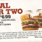 Burger King Printable Coupon Meal for Two for $6.99