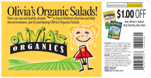 Olivia's Organic Salads Printable Coupons!