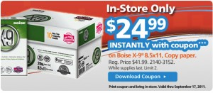 Save $17 on Copy Paper at OfficeMax