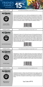 Lots of Printable Coupons for PetSmart Save Big