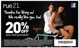 Rue21 20% OFF Next Purchase!