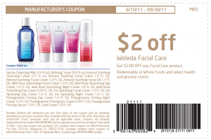 Printable Coupon Weleda Facial Care $2 OFF at Whole Foods and Grocery Stores