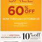 Banana Republic 10% Percent OFF Printable Coupon Plus Extra 60% Percent OFF!