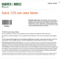 Barnes and Noble Save 15% OFF Printable and Online Coupon!