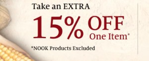 Barnes and Noble 15% Percent OFF Printable Online Coupon