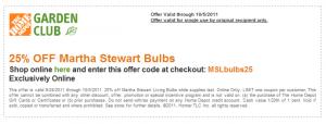 Home Depot 25% OFF Light Bulbs!