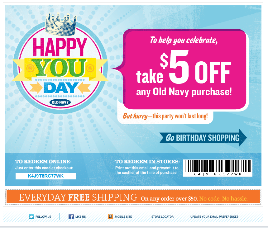 Old navy discount coupons
