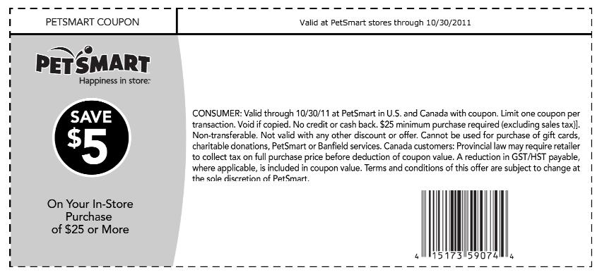petsmart in store coupons printable 2019