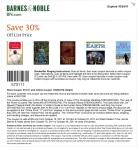 30% Percent OFF Coupons James Patterson Book and MORE and Barnes and Noble!