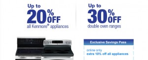 Sears Online Coupon Save 10% OFF ALL Appliances!