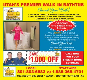 Save $1,000 BeeHive Walk-In Bathtubs