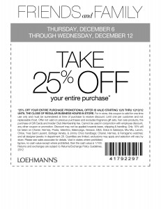 Loehmann's 25% OFF Entire Purchase!