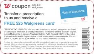 FREE $25 Walgreens Card