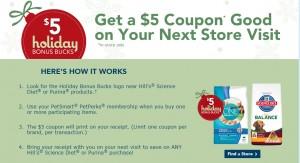 Get $5 of Bonus Bucks Coupon only at PetSmart