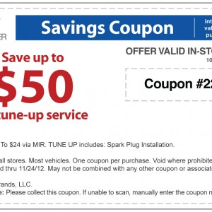 $50 off tune-up coupon sears auto center