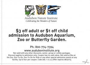 $3 OFF Audubon Nature Institute Printable Coupon 2013