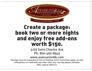 Free $150 add-ons Avenue Inn Bed and Breakfast Coupon