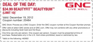 GNC DEAL of the Day BeautyBum