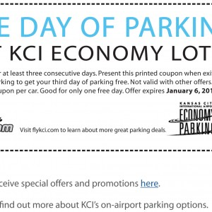 free day parking at KCI airport coupon