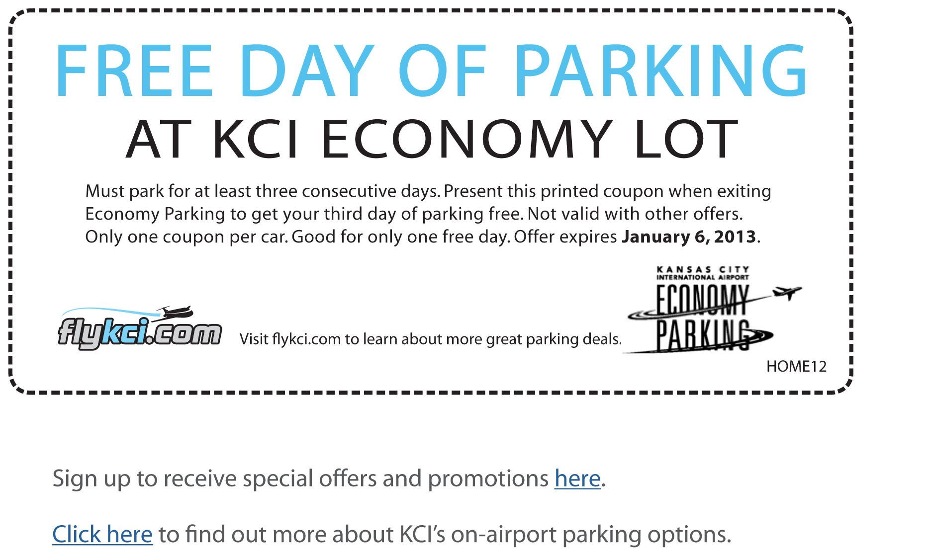 Oakland international airport economy parking coupon