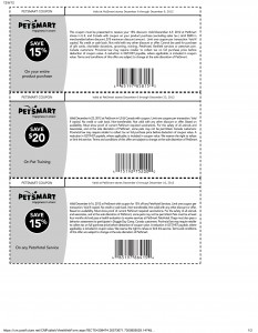 PetSmart $20 and 15% OFF Printable Coupons