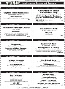 graphic about Rainforest Cafe Printable Coupon called San Francisco Places to eat Printable Coupon codes Print Coupon King