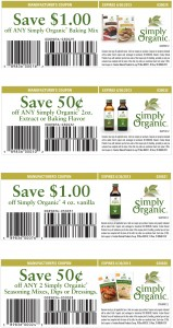 Simply Organic 2013 List of Printable Coupons