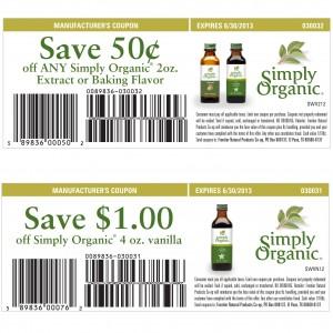 Simply Organic Coupons 2013