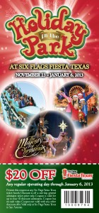 $20 OFF Six Flags In Texas